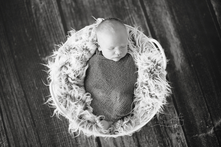 black and white newborn baby photos