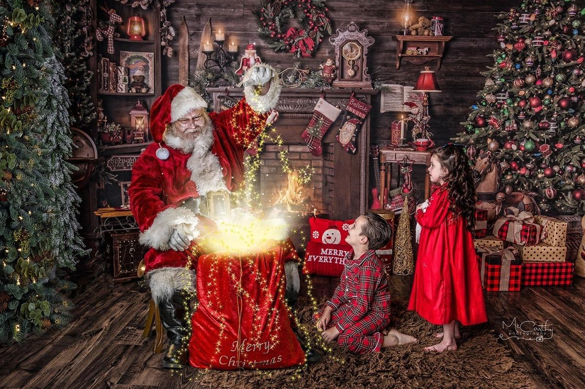 santa photos with his magic light