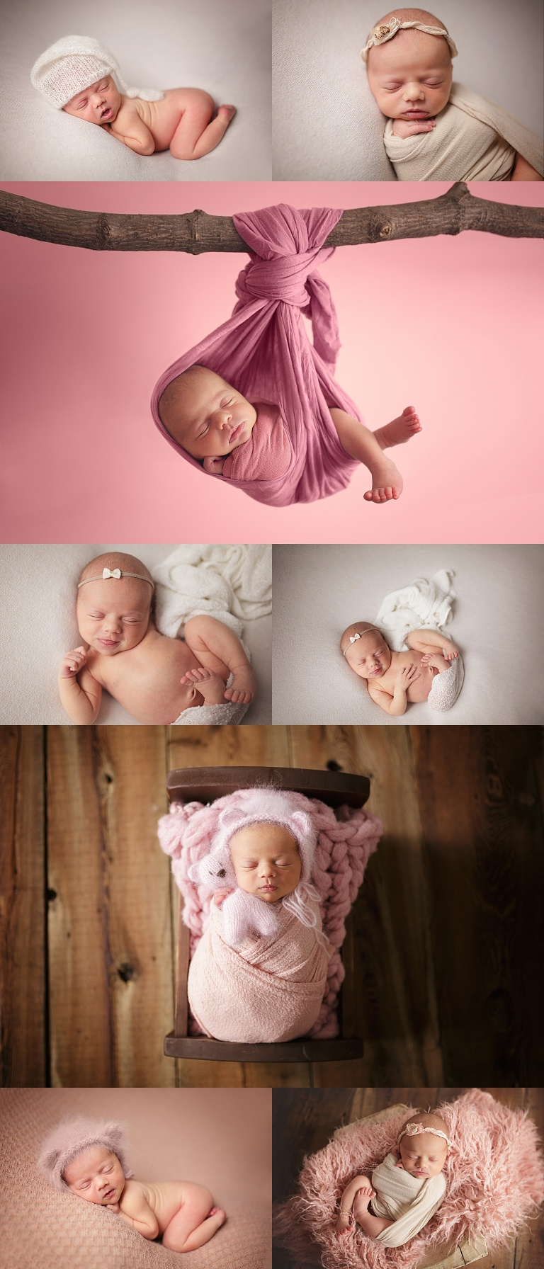 newborn photo gallery of baby girl in London Ontario by McCarthy Photography