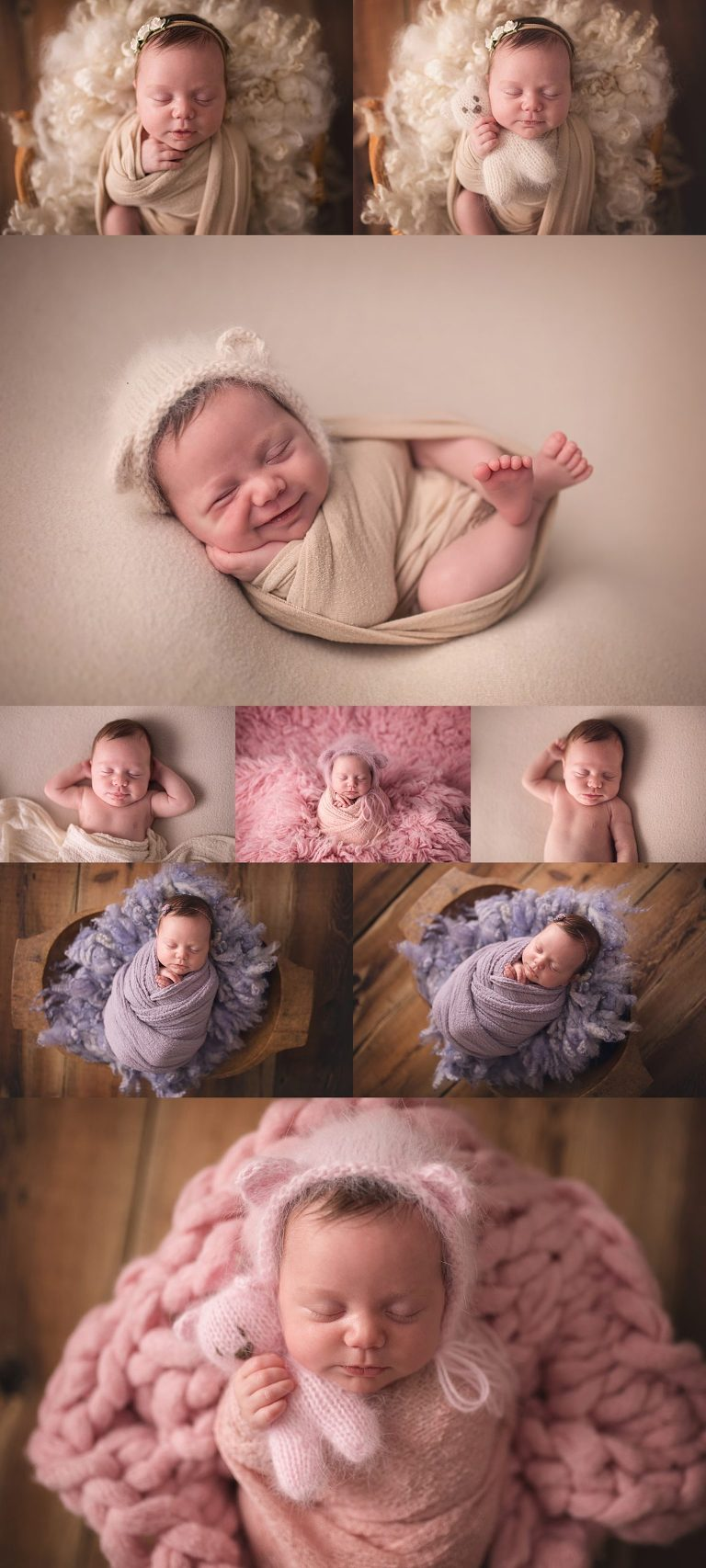 Kilworth newborn photographer with a neutral setup