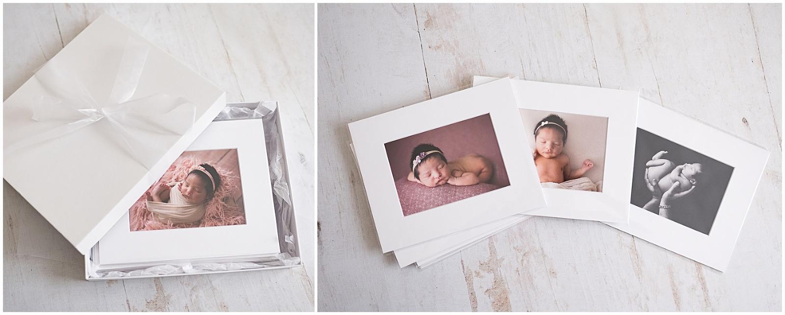 newborn baby folio prints McCarthy Photography