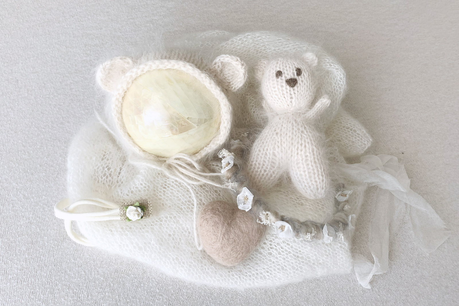 newborn styled set by McCarthy Photography