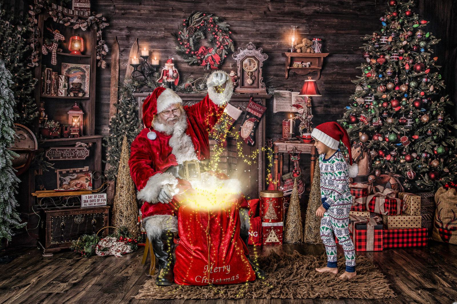 london ontario santa photo with magic gift bag